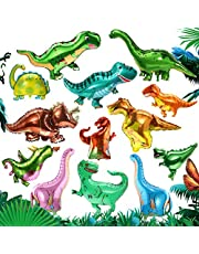 بالونات من رقائق الديناصور من رقائق الديناصور 13 قطعة من بالونات هيليوم ميلر الألومنيوم للديناصور، ديكورات حفلات أعياد الميلاد وحفلات استقبال المولود