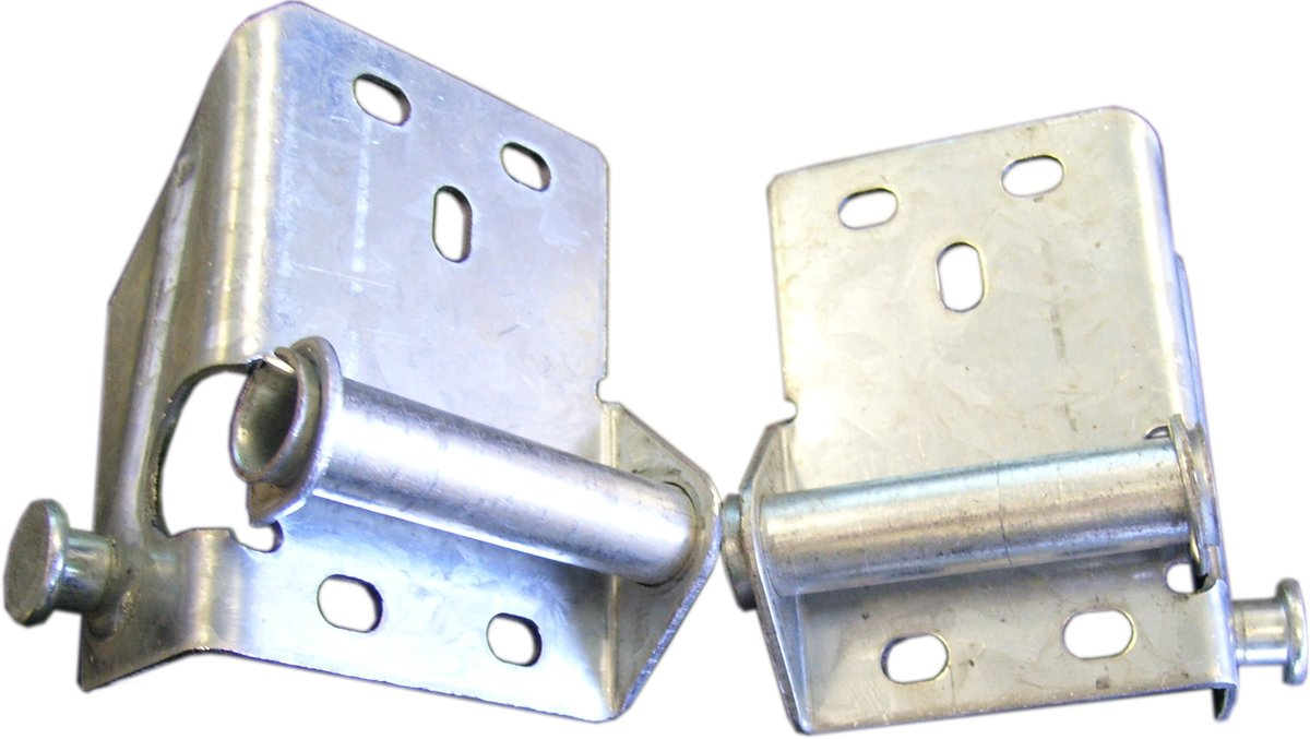 SK7130 Bottom Brackets for Sectional Garage Doors Includes Both Right and Left Ideal Security Inc Galvanized 2-Pack