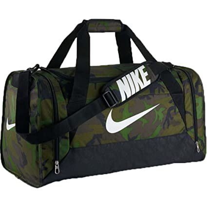 Amazon.com  Nike Brasilia 6 Graphic Camo Medium Duffel Bag Treeline ... 779f6c71a623c