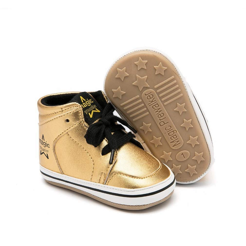 Breathable Wear-Resistant Warm Non-Slip,Gold,13 Deodorant GOLDGOD High-Top Rubber Baby Shoes Baby Shoes Baby Outdoor Sports Shoes Waterproof