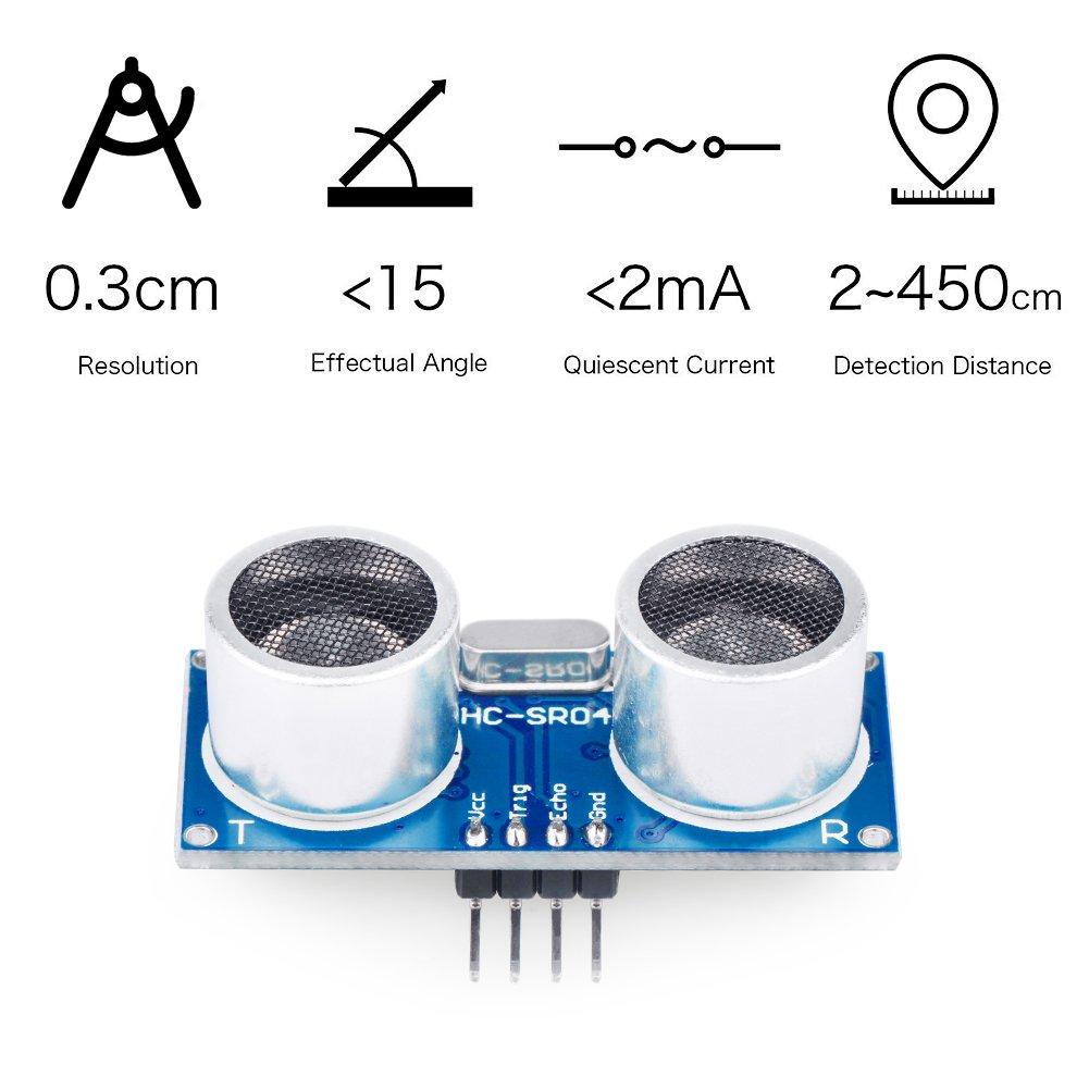 Emakefun Hc Sr04 Ultrasonic Sensor Distance Module 5pcs 10pin Datasheet Dupont Linefor Arduino Uno R3 Mega2560 Nano Robot Raspberry Pi 3 Computers