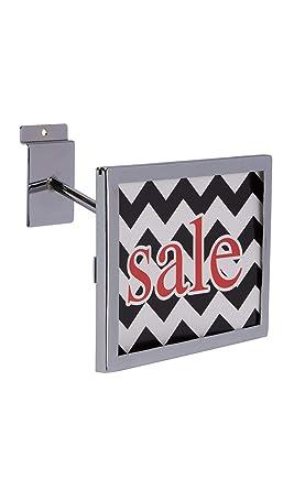 Amazon.com: Soporte rectangular cromado para carteles de ...