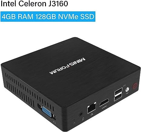 GN31 Mini PC Windows 10 Pro 4GB RAM/NVMe SSD 128GB/ Intel Celeron ...