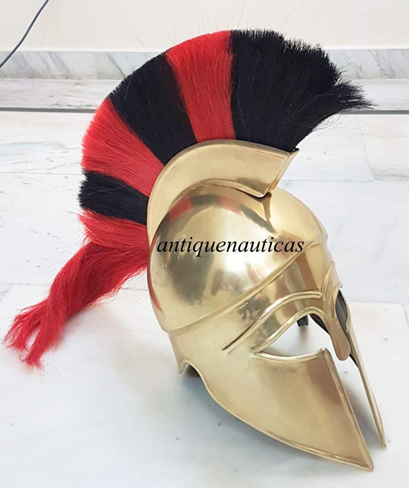 para barato Shivi Shivi Shivi Shakti Enterprises - Casco Medieval Corinthian con Ciruela Negra y roja, Talla única  protección post-venta