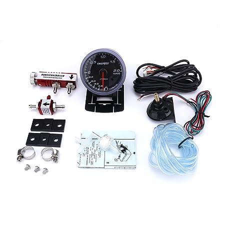 CNSPEED - Medidor de turbo de 60 mm para coche (incluye controlador de turbo ajustable, 1 - 30 PSI, medidor de entrada de coche (con controlador rojo): ...