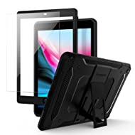 Spigen Tough Armor Tech iPad 9.7 2018/2017 Case, iPad 9.7 Case Kickstand Tempered Glass SF Coated Non Slip Matte Surface Extreme Heavy Duty Protection Apple iPad 9.7 inch- Black