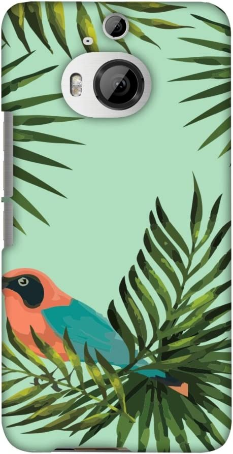 AMZER Slim Fit Handcrafted Designer Printed Snap On Hard Shell Case Back Cover for HTC One M9 Plus - Homely Nature - Light Blue HD Color, Ultra Light Back Case