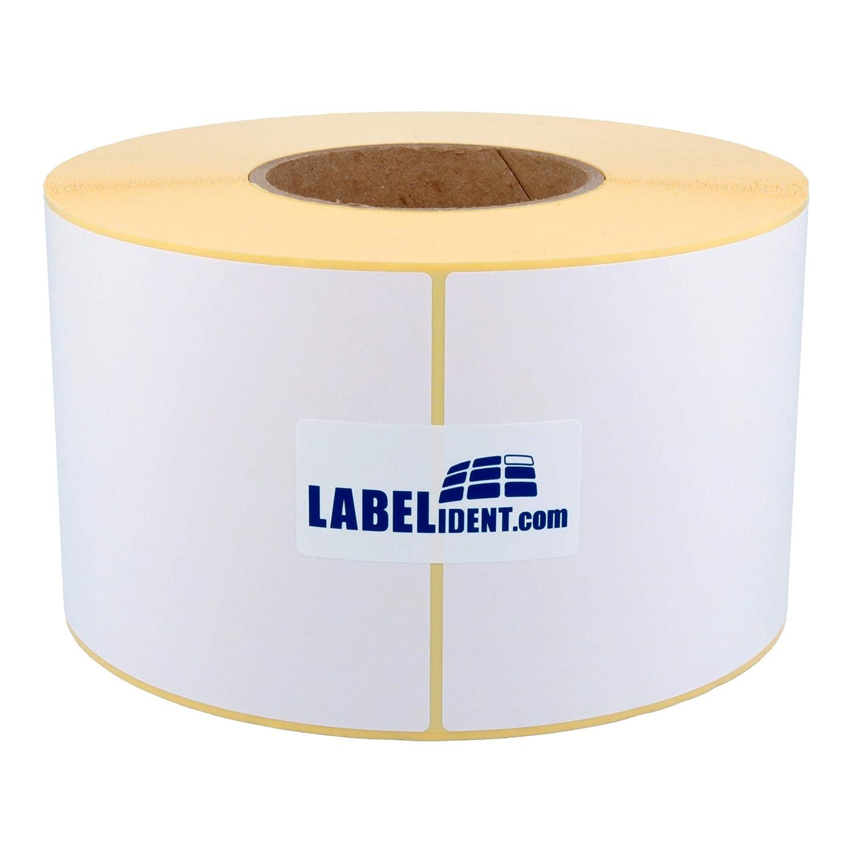 Labelident Versandetiketten auf Rolle - wieder abl/ösbar 100 x 150 mm 1000 Papieretiketten auf 40 mm Rollenkern 1,57 Zoll