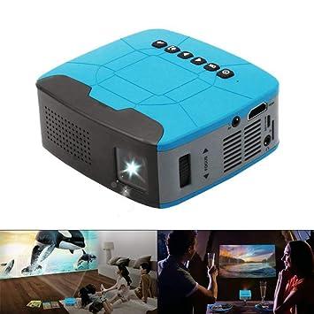 Mhwlai Proyector para niños, proyector portátil Mini T200 Home HD ...
