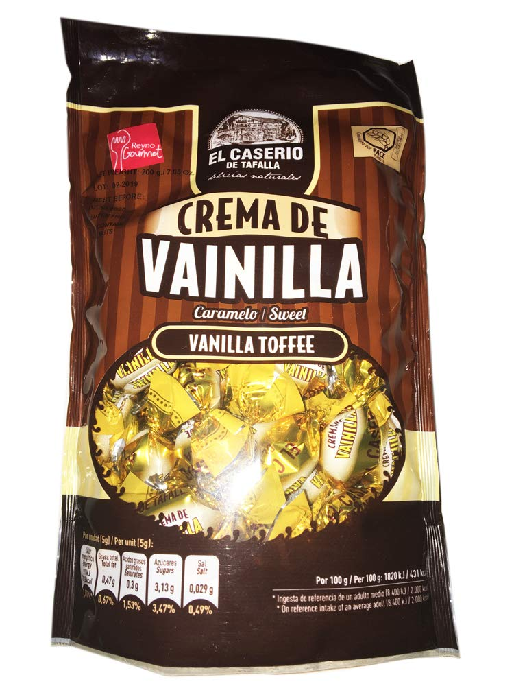 Amazon.com : El Caserio Classic Candy 7.05 Ounce! Traditional Candies Natural Delicious! Choose From, Vanilla Toffee, Almond Toffee, Coffee & Milk Toffee, ...