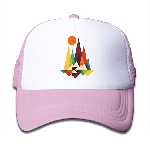 524c1e493f1 Waldeal Girls Mountain Bear Colorful Toddler Cool Snapback Cap Sports Great  for Kids Pink