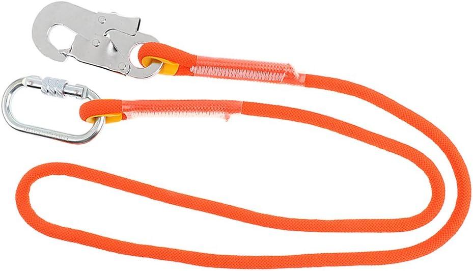 Sharplace Corde de S/écurit/é Escalade Longe pour Arboriste-grimpeur Corde avec Mousqueton Protection Anti-Chute