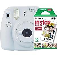 Câmera Instantânea Mini 9 + Pack 10 Fotos, Fujifilm, Instaxkit21G, Branco Gelo