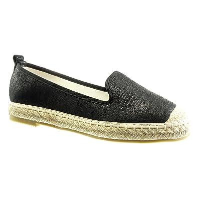 Angkorly Damen Schuhe Espadrilles Mokassin - Slip-on - Schlangenhaut - Glänzende Flache Ferse 2.5 cm - Gold LX128 T 37 ciPKyeEI