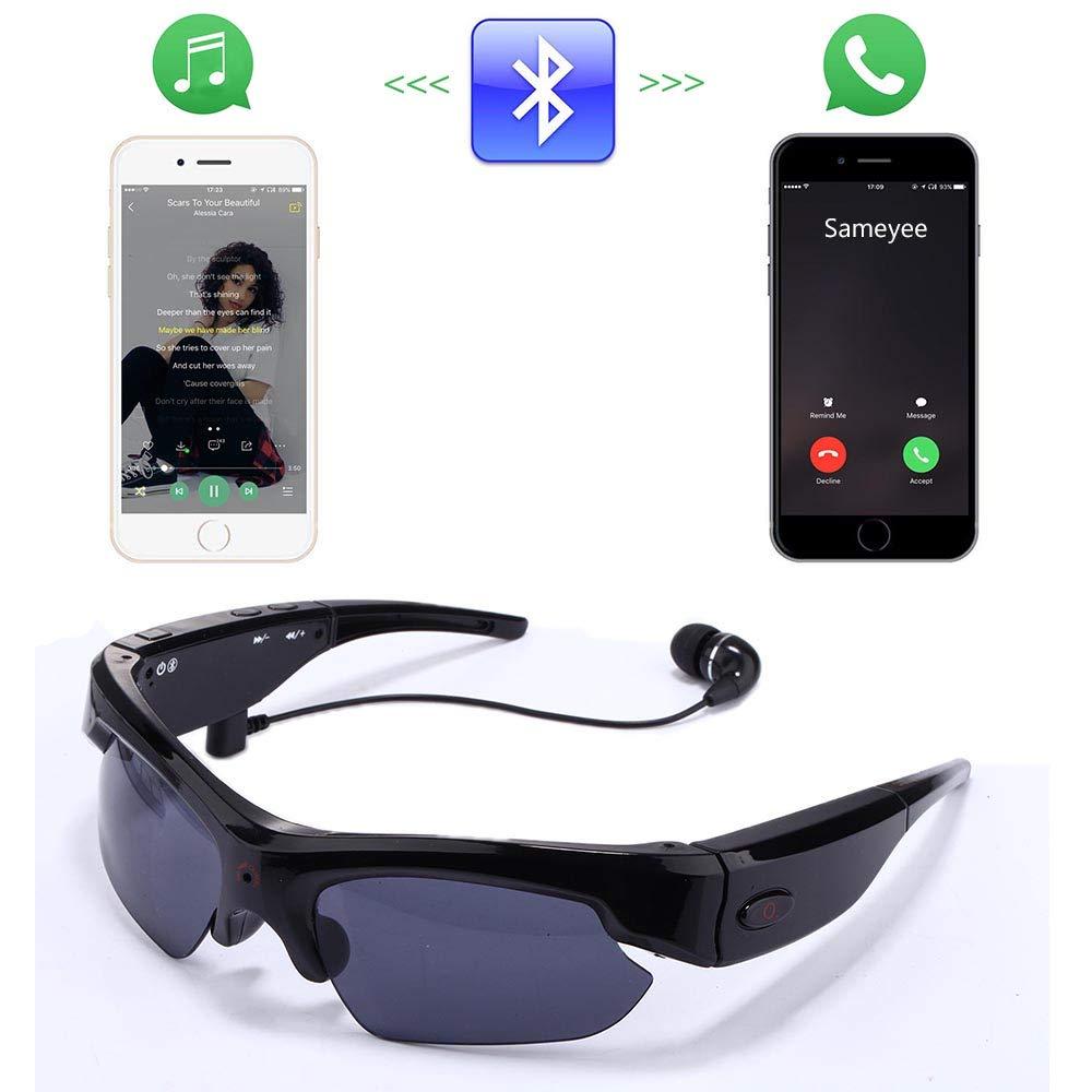 Gafas de Sol Ocultas de la cámara espía, Bysameyee 1080P Gafas polarizadas Mini videograbador CAM DVR: Amazon.es: Bricolaje y herramientas