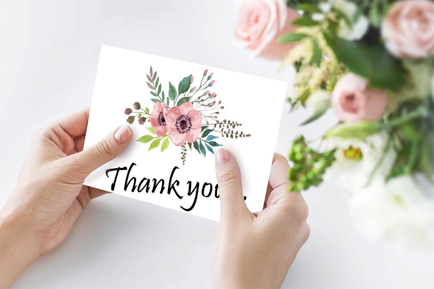 Amazon 48 Bulk Thank You Cards Floral Flower Thank You Notes