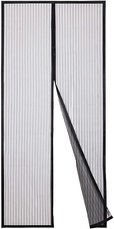 DANWU Moustiquaire Porte Magn/étique 70x190cm Anti Moustique Mouche Rideau de Porte Antimoustique sans Per/çage Facile /à Installer pour Fen/être Filet de Fen/être Brown