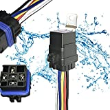 40 amp bosch relay - 1 PACK 40/30 AMP Waterproof Relay and Harness - Heavy Duty 12 AWG Wiring Harness - 12V DC 5-PIN SPDT Bosch Style Automotive Relay
