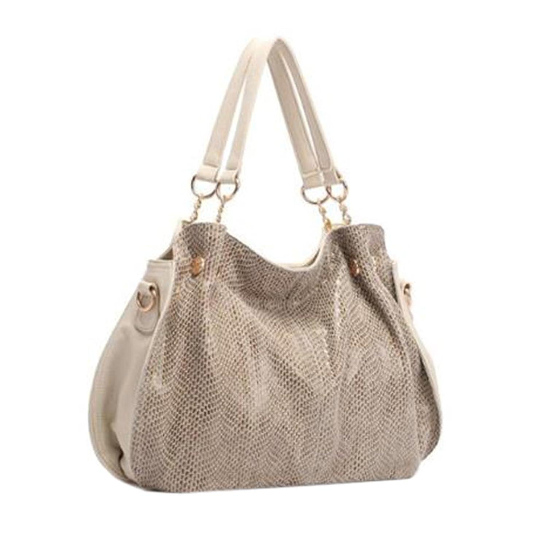 Lunas Womens Buffalo Hide Handle Satchel Cross Body Messenger Handbags