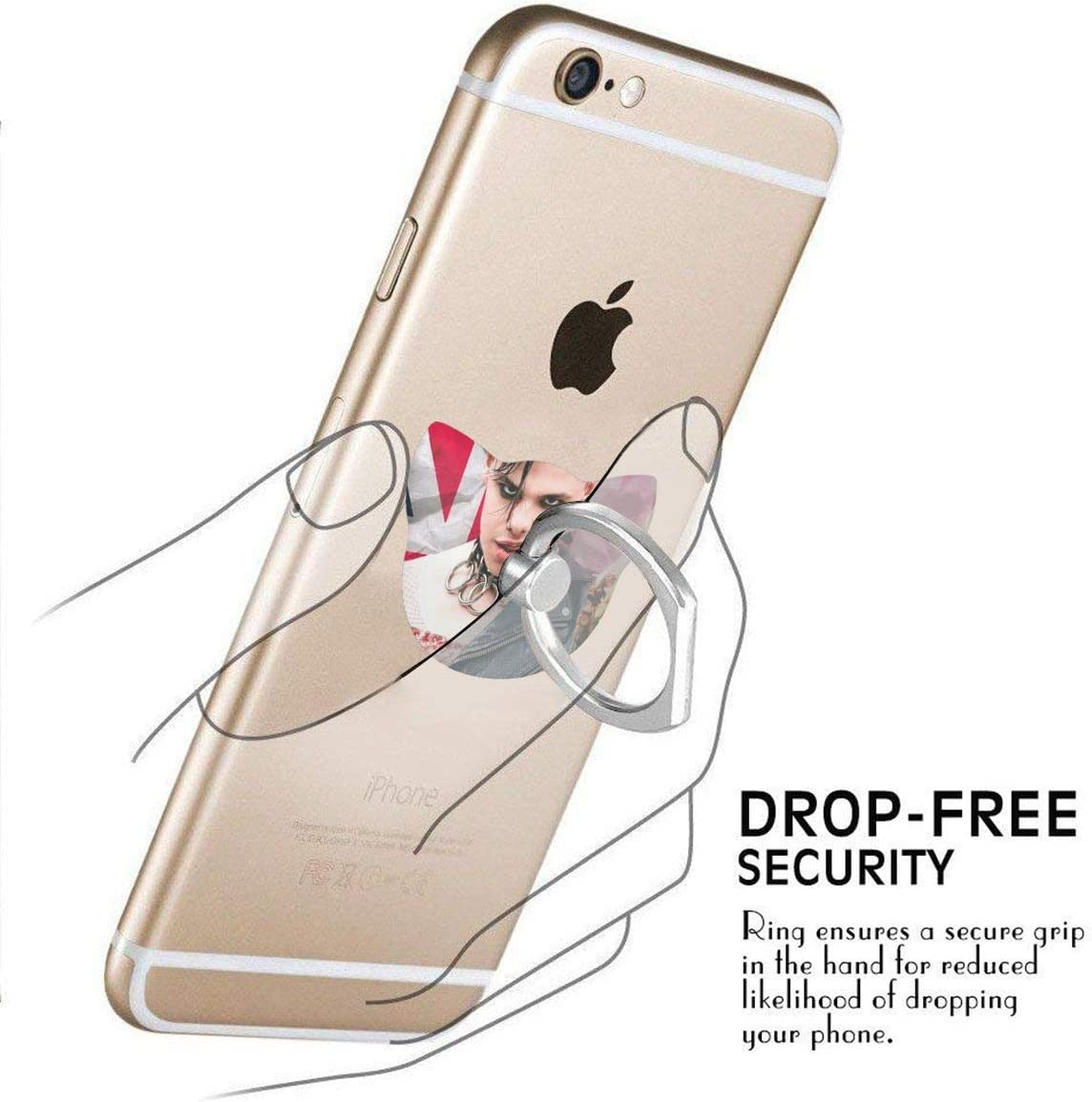 MANTSHIRT YUNGBLUD Cover Finger Phone Ring Holder Stand 360/° Rotation Durable Thin Universal Ring Buckle Grip Kickstand for iPhone Samsung LG Google Moto Smartphones Tablets