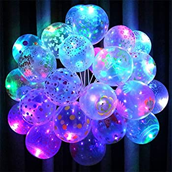 and for with light exsport dp birthday color mixed party up decorations amazon emoji christmas balloons com led
