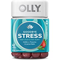 OLLY Goodbye Stress Gummy Vitamins with GABA, For Keeping Calm and Staying Alert, 21 Day Supply, 42 count,858158005701…