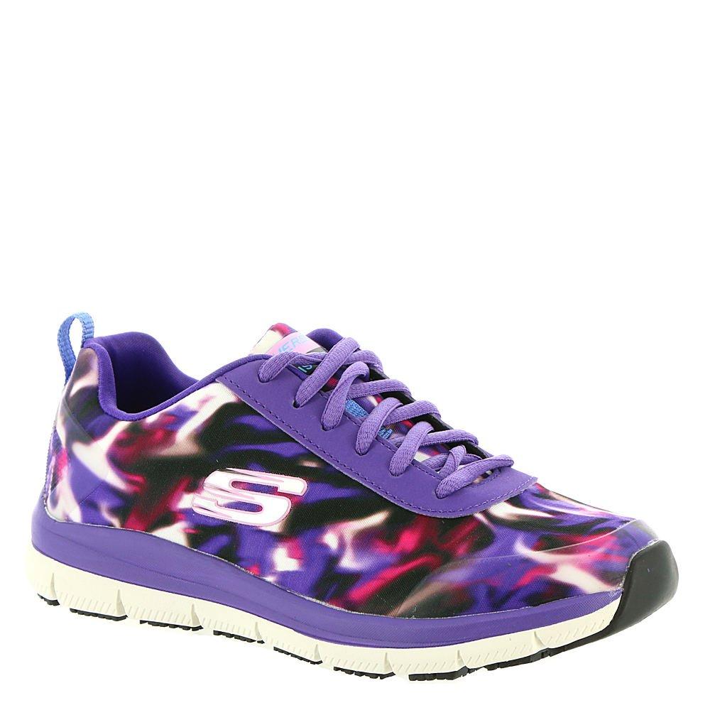 Skechers Work Relaxed Fit Comfort Flex Pro HC SR Womens Slip Resistant Sneakers Purple/Multi 7
