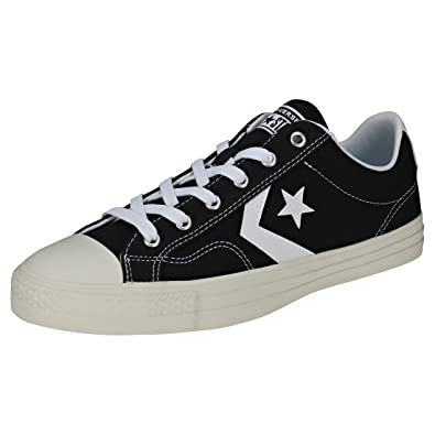 6c7f07bf9fd1 Converse Men s Adults  Lifestyle Star Player Ox Low-top Sneakers  Black White Black