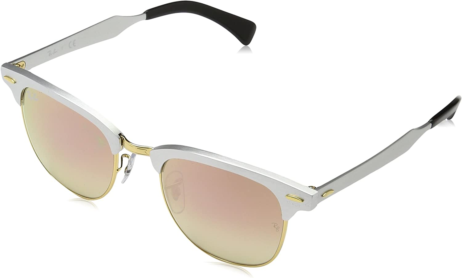 TALLA 49. Ray-Ban Sonnenbrille CLUBMASTER ALUMINUM (RB 3507)