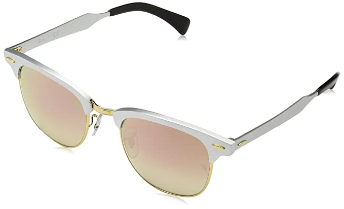 30a751c2ac Amazon.com  Ray-Ban Clubmaster Aluminum 0RB3507 Square Sunglasses ...