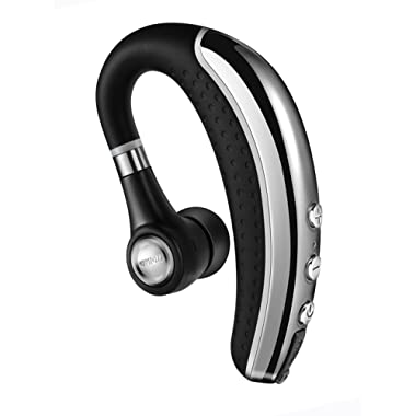 Bluetooth Headset,Ansin A8 Wireless Stereo Earphones V4.1 Bluetooth Headphones Lightweight Earpieces In-ear Earbuds with Microphone and MuteKey for iPhone and Android Smart Cellphone-Gray