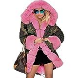Roiii Women Thicken Warm Winter Coat Hood Parka Overcoat Long Jacket Outwear