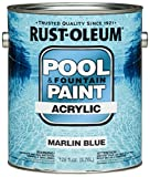 Rust-Oleum 269357 Acrylic Pool and Fountain Paint, 1-Gallon, Marlin Blue, 2-Pack by Rust-Oleum