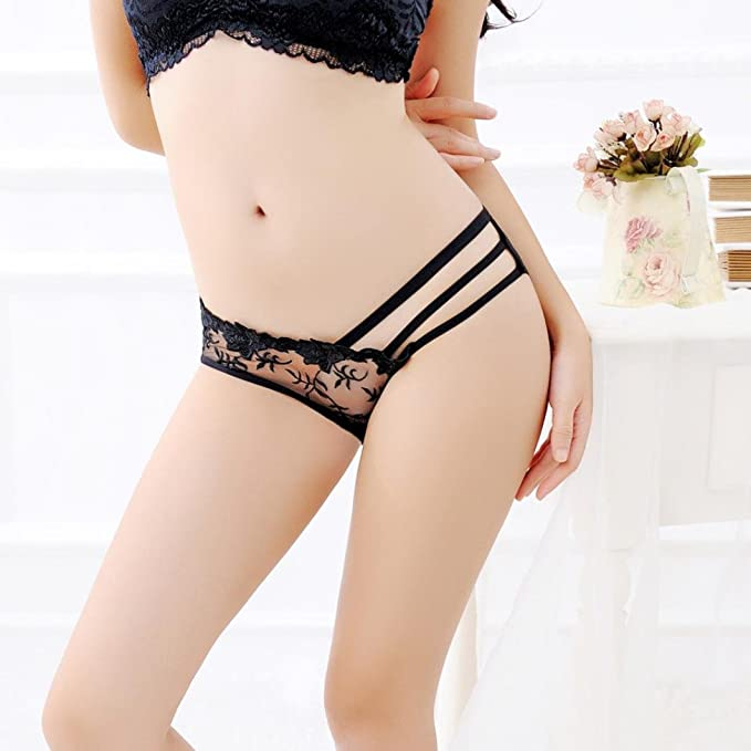 Amazon.com: Vovotrade Sexy Underwear For Women Thongs Bandage Panties Women Lace Pants Ladies Charming Briefs (Black): Clothing