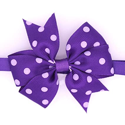 22bf38780c11 Dog Bow Tie - 1pc Choose Color Polka Dots Pet Puppy Dog Cat Bowtie  Adjustable Ribbon
