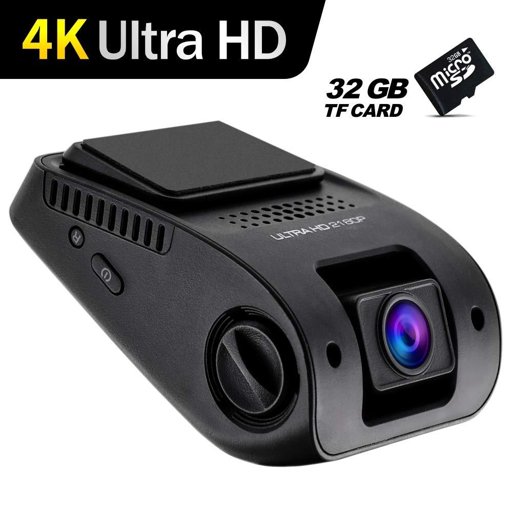 Car Dash Cam Recorder Dashboard Camera 4k HD 2160p WDR Night Vision 32G SD Card G Sensor Wide Angle Lens Loop Recording Camera Keeken N56 Plus