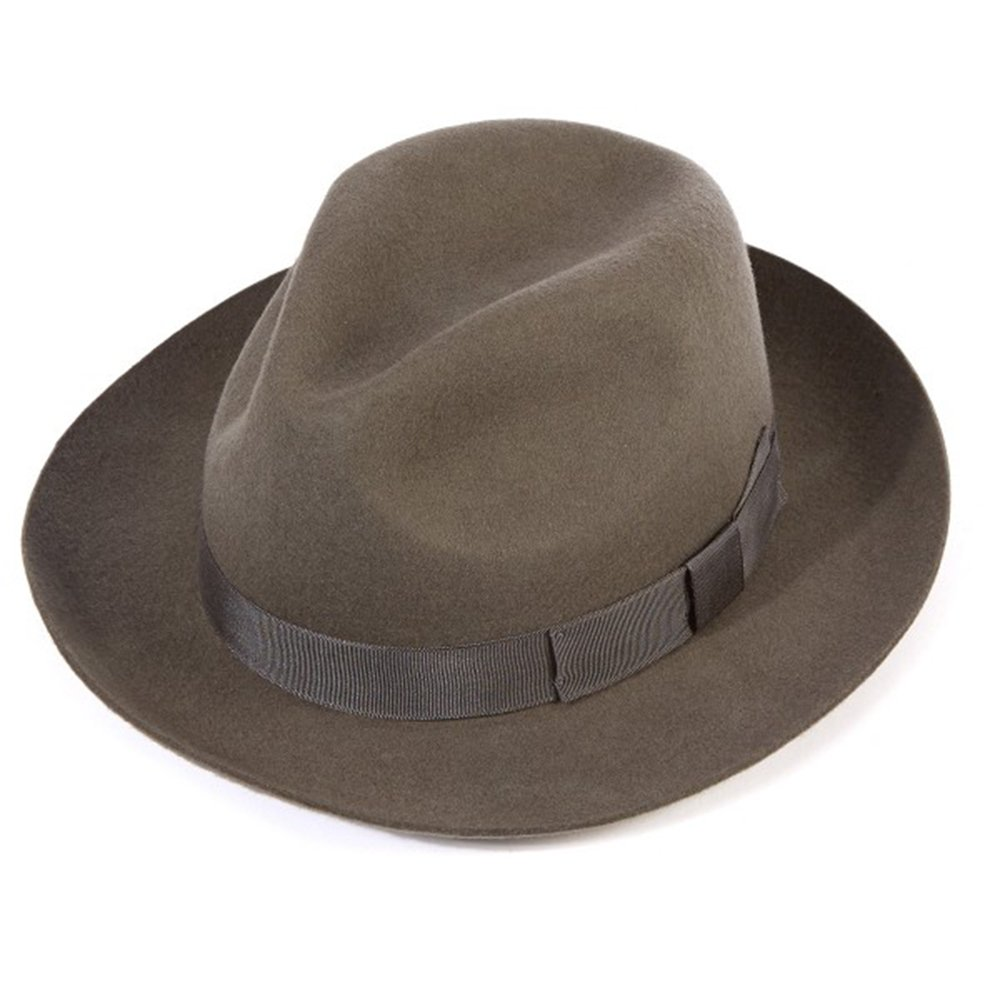 27f3454fcb2 Official Christys of London Christys Of London Chepstow Wool Felt Snap Brim Trilby  Hat (Gray