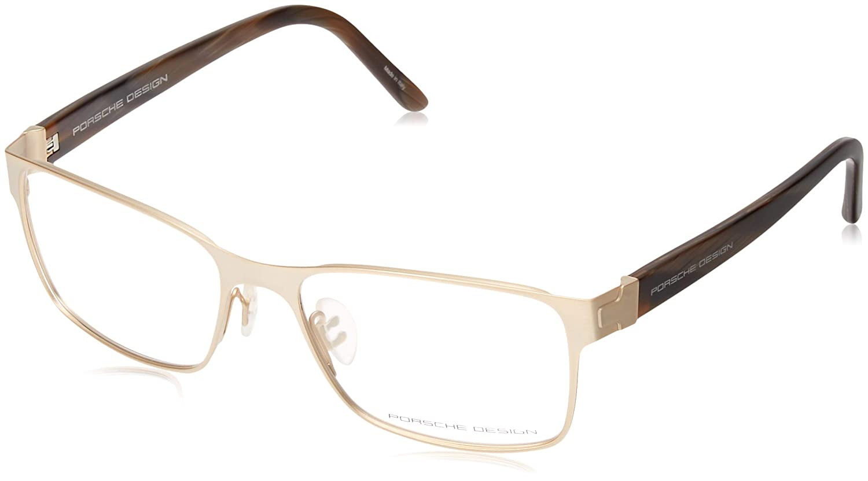 ebc450fed13 Amazon.com  Porsche Design Men s Eyeglasses P 8248 P8248 C Gold Full Rim Optical  Frame 56mm  Health   Personal Care