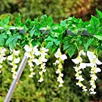 Zpollo-4-Pcs-Artificial-Flowers-72ft-Silk-Wisteria-Ivy-Vine-Green-Leaf-Hanging-Vine-Garland-for-Wedding-Party-Home-Garden-Wall-Decoration-White
