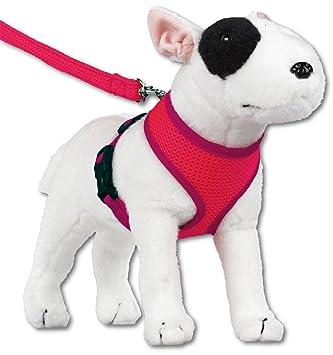 doxtasy round-loop perro arnés de malla fluorescente rosa: Amazon ...