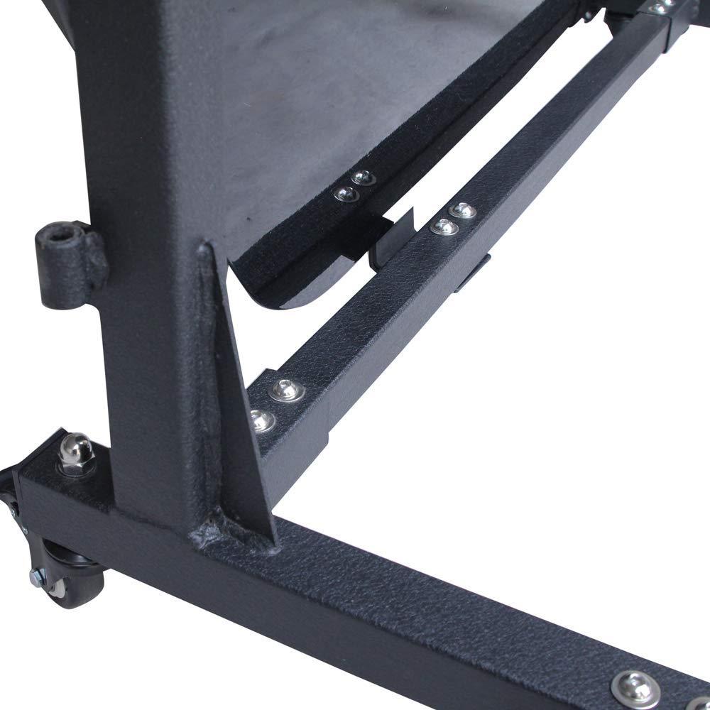 BESKE Door Storage Sliding Rack Movable Cart Rock Crawler Door Storage Bracket slidable Bracket Movable Door Storage Bracket Suitable for Jeep Wrangler 2007-2020 JK JL