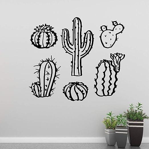 sanzangtang Familia de Cactus Etiqueta de la Pared Mural Artista ...