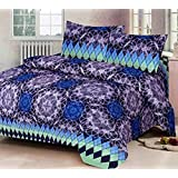 ZCI Polly Cotton Super King Size Double Bedsheet (Set of 1 Bedsheets with 2 Pillow Covers_Multicolor (Color_3)