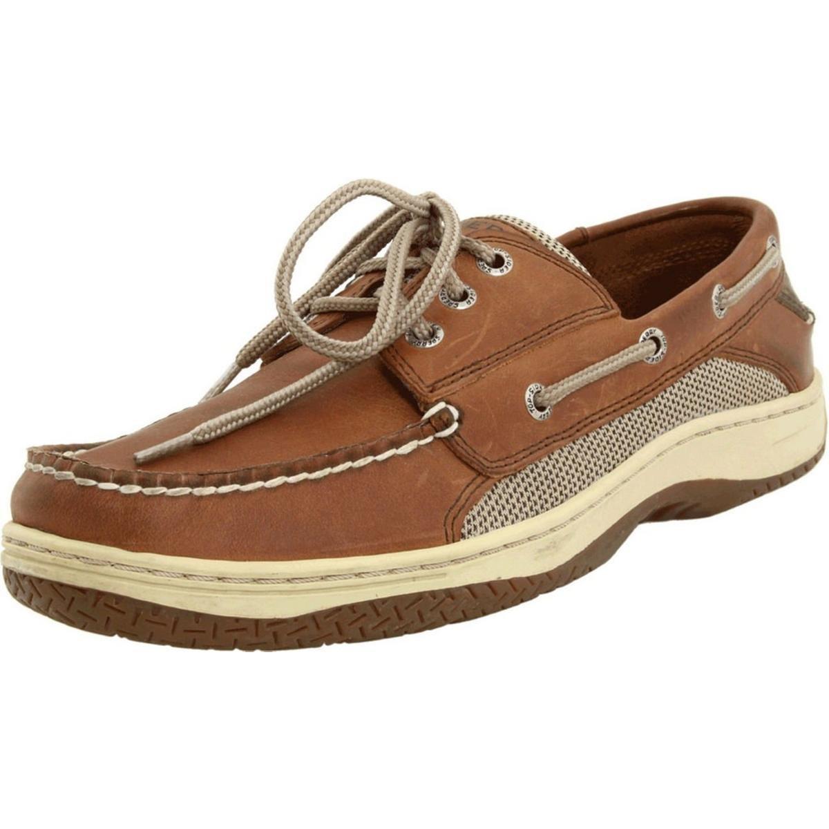 Sperry Top-Sider Men's Billfish 3-Eye Boat Shoe, Dark Tan, 12 M US