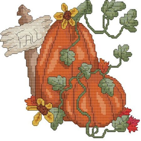 Fall Pumpkin Cross Stitch Pattern