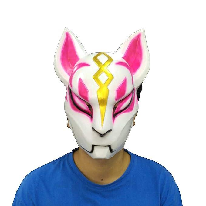 profiter du prix de liquidation Nouvelles Arrivées répliques Fortnite Costume Latex Mask Fox Drift Mask (A)