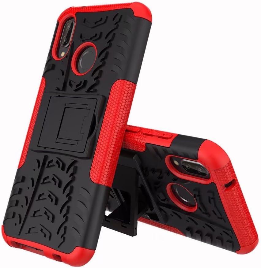 Hyun Pattern Dual Layer Hybrid Armor Kickstand 2 in 1 Shockproof Case Cover for Huawei P20 Lite//Nova 3E Color : Black Zhusha Mobile phone case Huawei P20 Lite Case