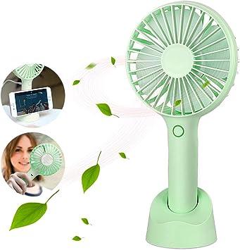 Parsion Hand Fan, Ventilador Portátil USB con Base, Mini Ventilador Recargable Fan con 3 Velocidades Ajustables, Ventilador de Mano Adecuado para Oficina, Hogar, Viajes, etc.: Amazon.es: Electrónica
