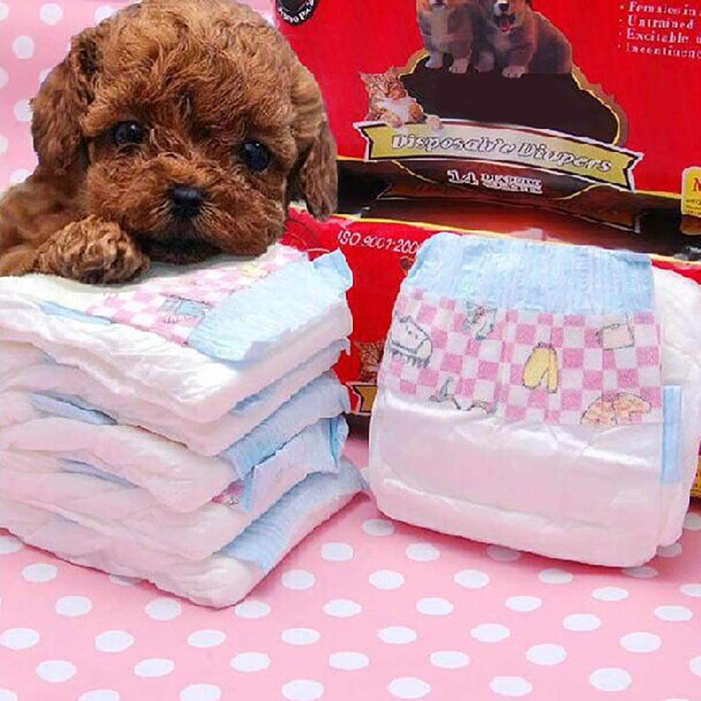 Large Disposable Dog Package, Simple Solution Super Absorbent Pet Care Belly Wrap Anti-Side Leakage Female Dog Super Absorbent Leak-Proof Fit