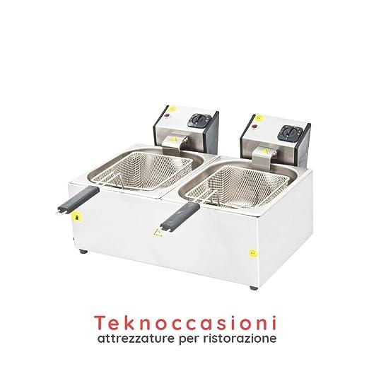 Freidora eléctrica de 2 senos – 8 litros en bañera – de mesa ...